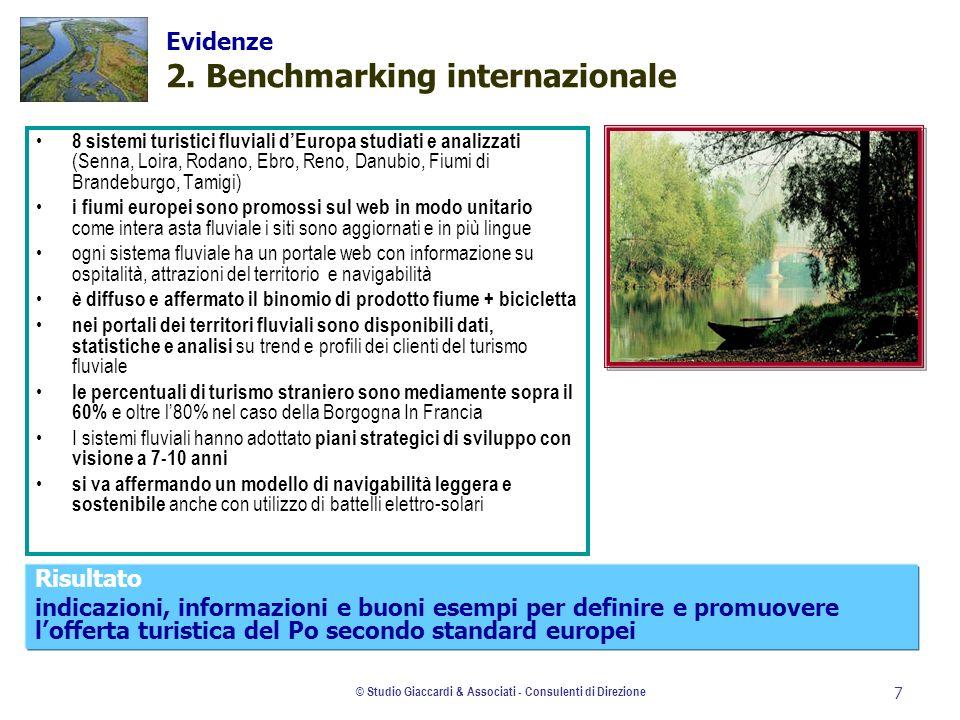 © Studio Giaccardi & Associati - Consulenti di Direzione 7 Evidenze 2. Benchmarking internazionale 8 sistemi turistici fluviali dEuropa studiati e ana