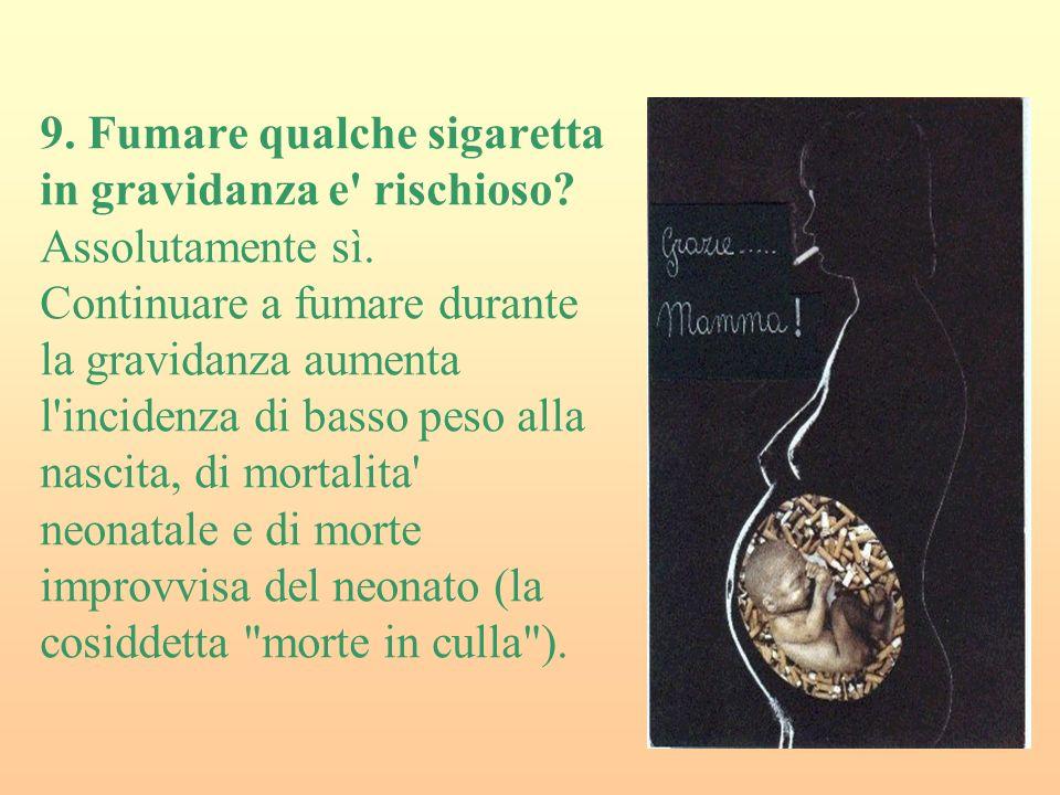9.Fumare qualche sigaretta in gravidanza e rischioso.