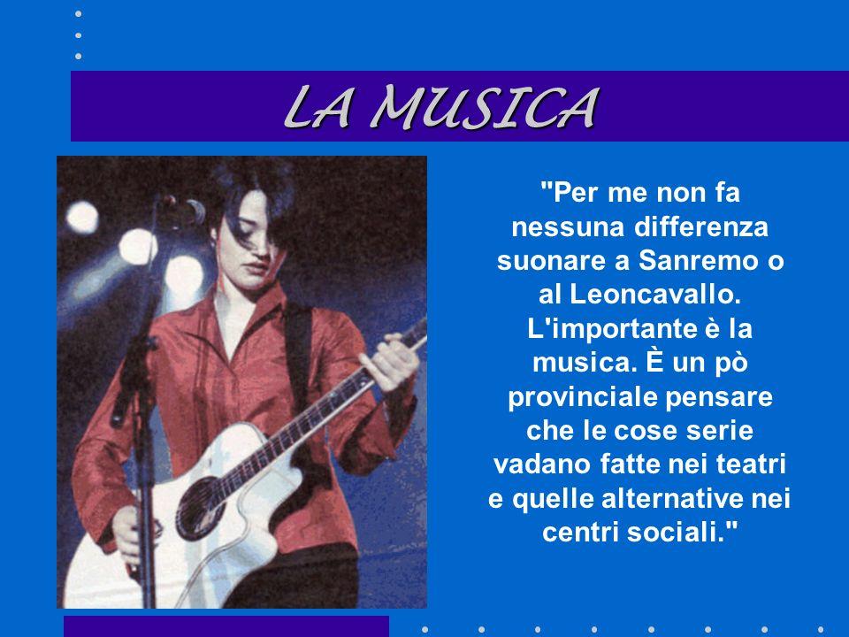 Per me non fa nessuna differenza suonare a Sanremo o al Leoncavallo.