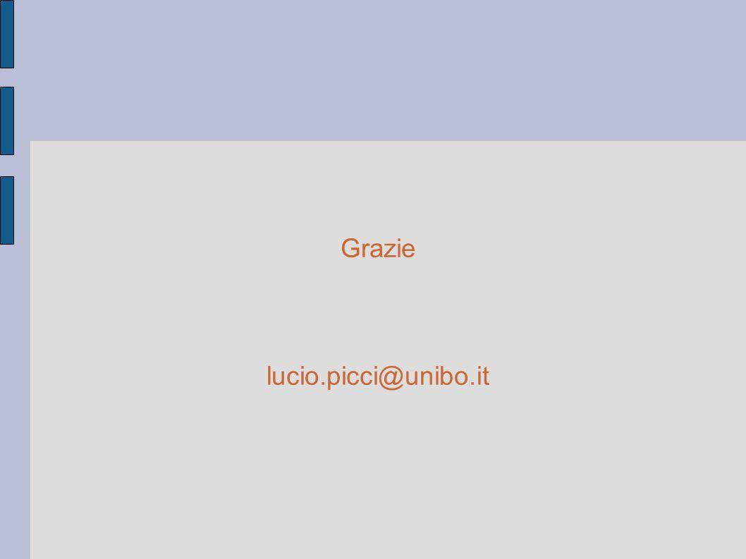 Grazie lucio.picci@unibo.it