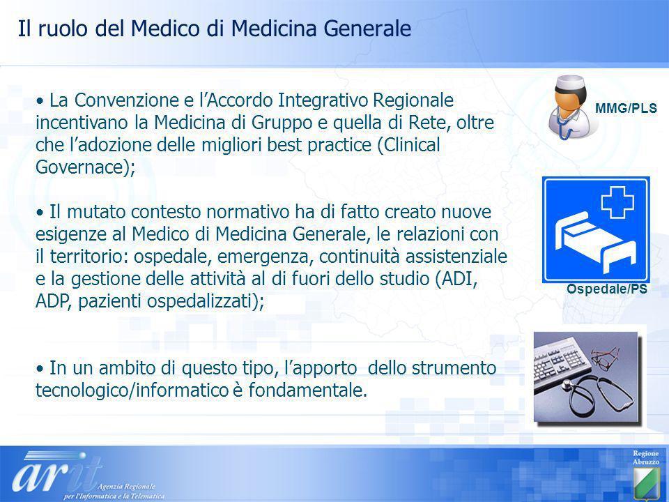 Il ruolo del Medico di Medicina Generale La Convenzione e lAccordo Integrativo Regionale incentivano la Medicina di Gruppo e quella di Rete, oltre che