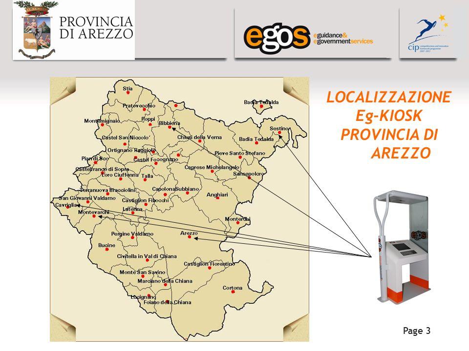 YOUR LOGO HERE Page 3 LOCALIZZAZIONE Eg-KIOSK PROVINCIA DI AREZZO