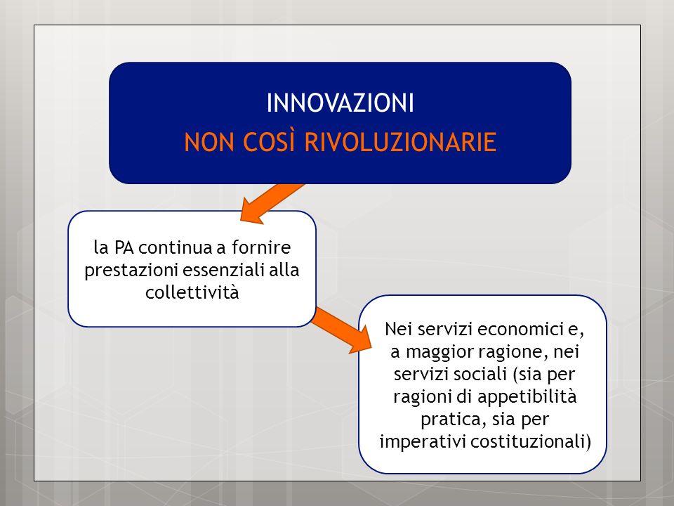 Nei servizi economici e, a maggior ragione, nei servizi sociali (sia per ragioni di appetibilità pratica, sia per imperativi costituzionali) la PA con