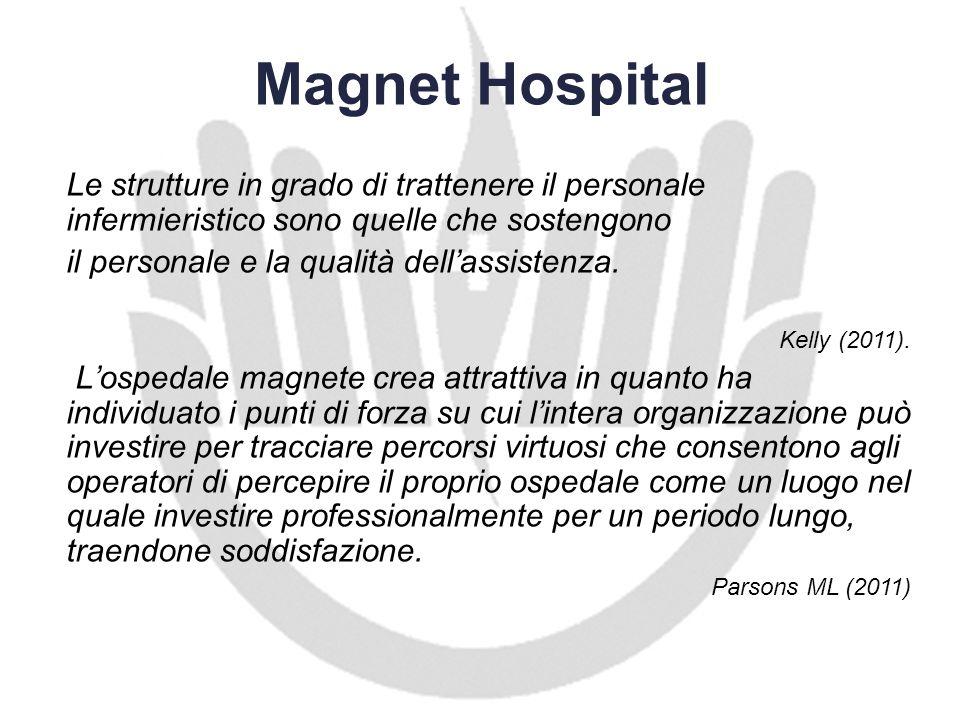 Magnet Hospital Le strutture in grado di trattenere il personale infermieristico sono quelle che sostengono il personale e la qualità dellassistenza.