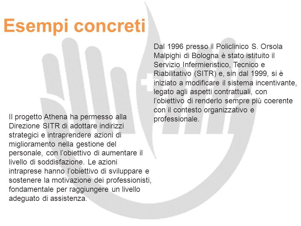 Esempi concreti Il progetto Athena ha permesso alla Direzione SITR di adottare indirizzi strategici e intraprendere azioni di miglioramento nella gest