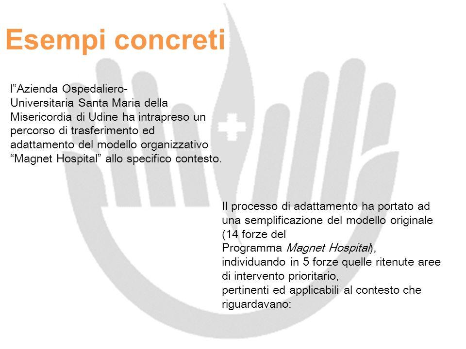 Esempi concreti l Azienda Ospedaliero- Universitaria Santa Maria della Misericordia di Udine ha intrapreso un percorso di trasferimento ed adattamento