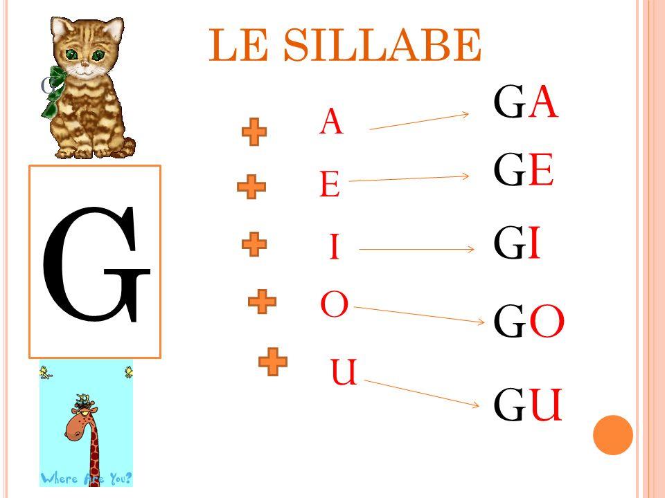 G GAGA GIGI GOGO GEGE GUGU A E I O U G