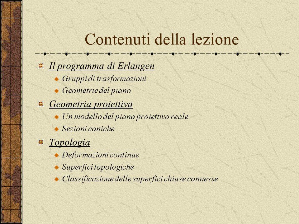 La geometria delle trasformazioni Summer school 2007 Politecnico di Milano Emanuele Munarini