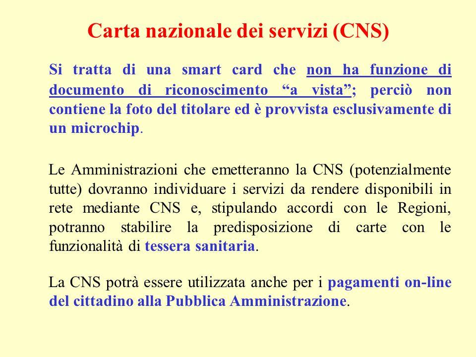 Si tratta di una smart card che non ha funzione di documento di riconoscimento a vista; perciò non contiene la foto del titolare ed è provvista esclus