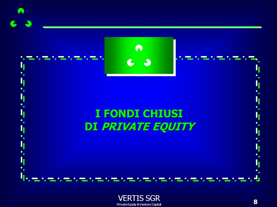 Private Equity & Venture Capital VERTIS SGR19 Un venture capitalist riceve centinaia di business plan ogni anno che comportano unattenta valutazione iniziale del potenziale dimpresa.
