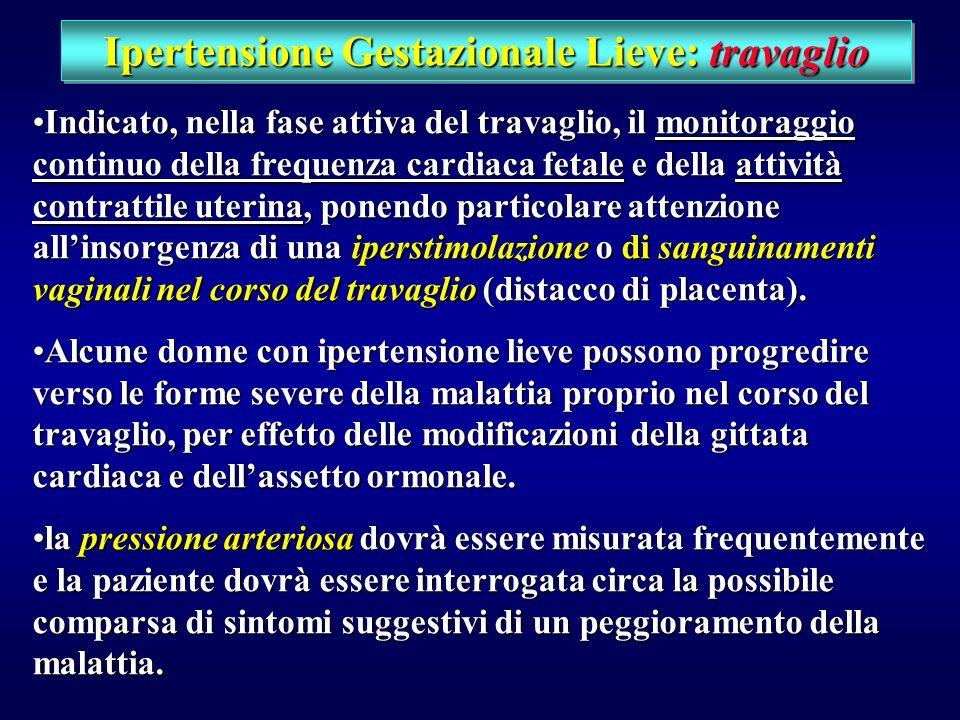Ipertensione Gestazionale Lieve: timing e modalità di parto parto vaginale sembra, tuttavia, preferibile al taglio cesareo.parto vaginale sembra, tutt