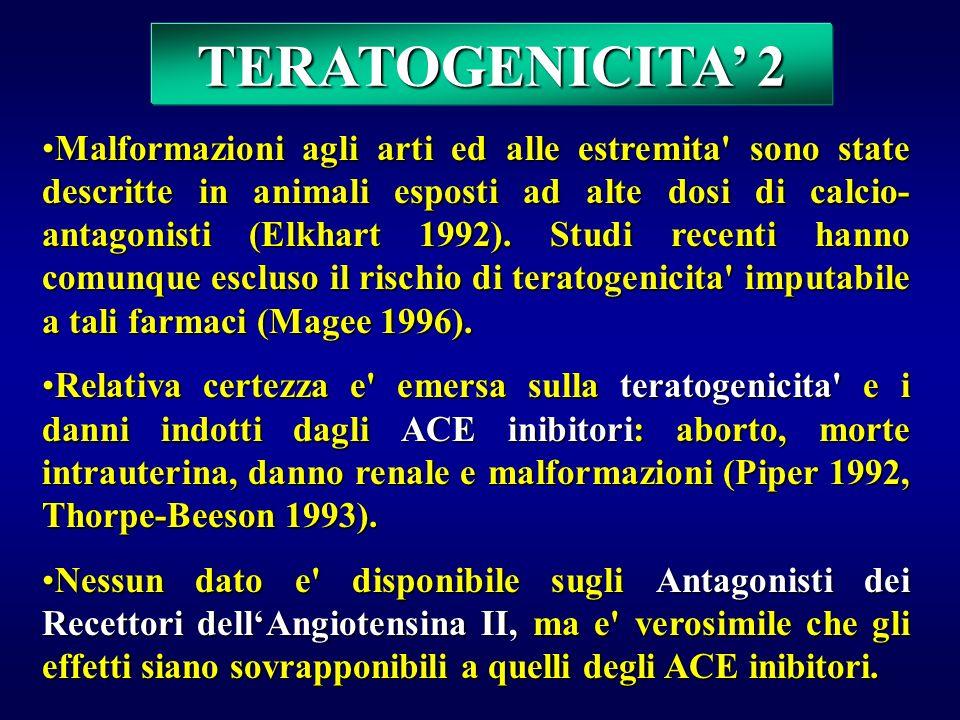 Non sono state riscontrate malformazioni fetali attribuibili alla Metildopa (Briggs 1994), ai Beta-bloccanti o alla Clonidina (Sibai 1990).Non sono st