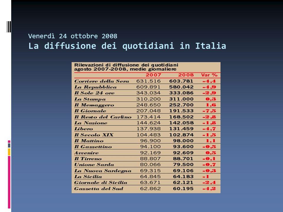 Venerdì 24 ottobre 2008 Cosa pensiamo dei giornalisti italiani.