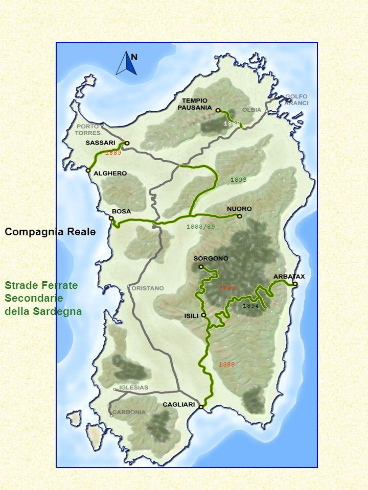 Compagnia Reale Strade Ferrate Secondarie della Sardegna 1888 1889 1888/89 1888 1893 1889 1894