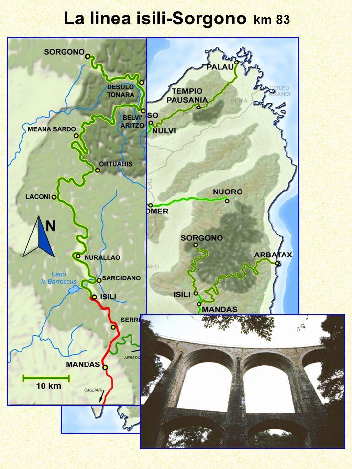 La linea isili-Sorgono km 83