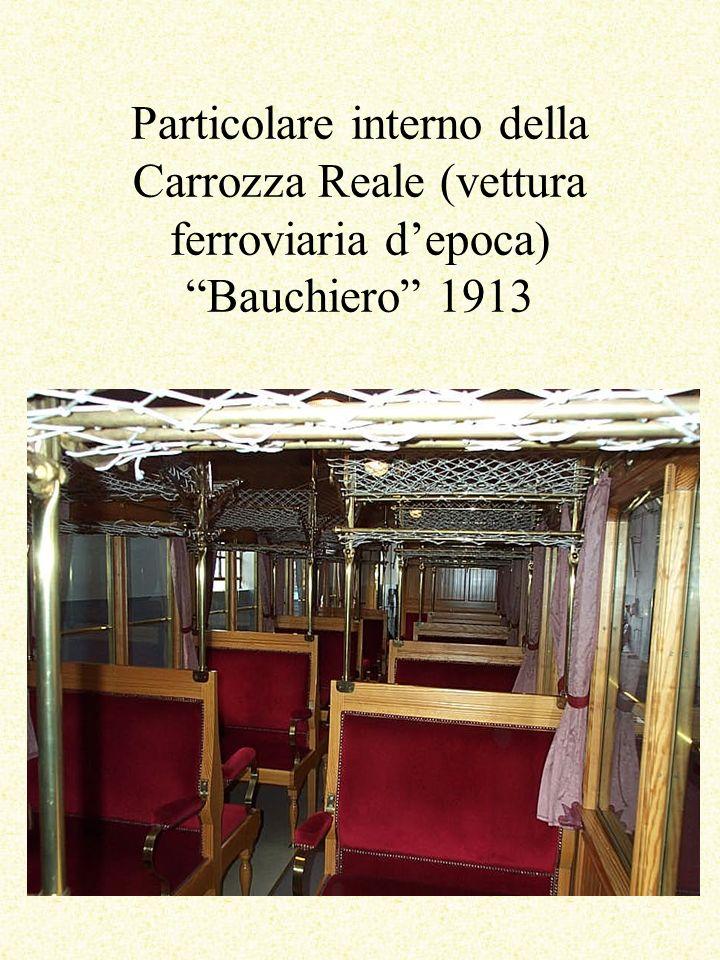 Particolare interno della Carrozza Reale (vettura ferroviaria depoca) Bauchiero 1913