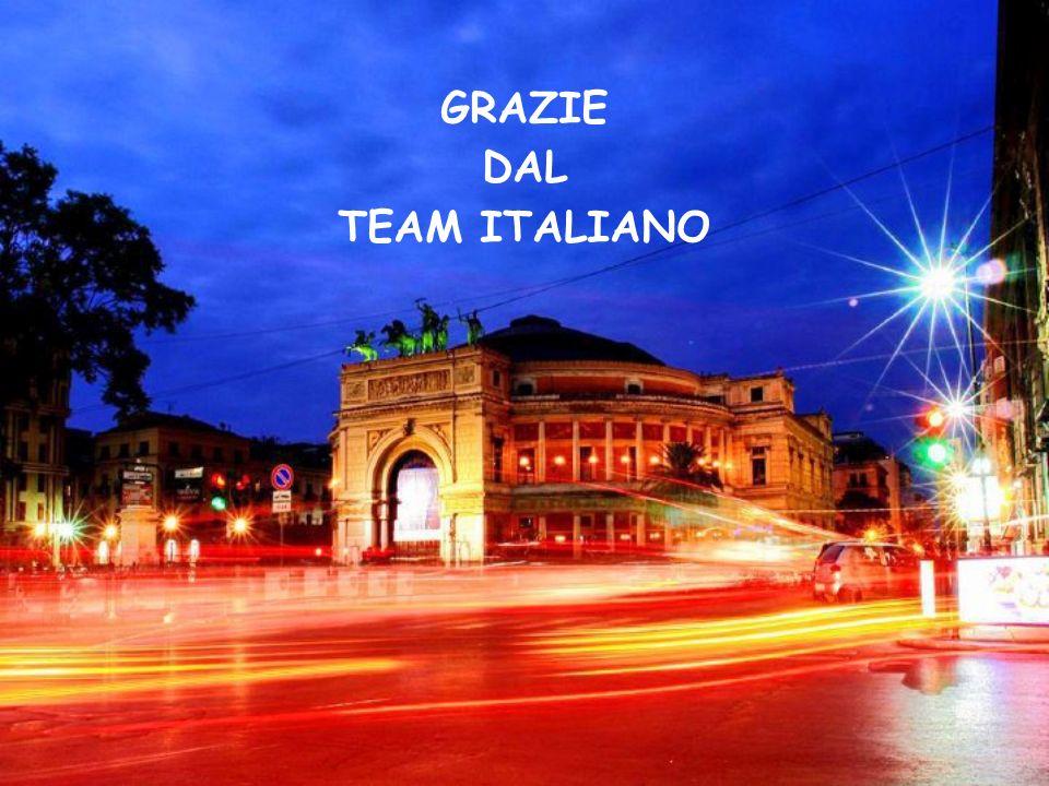 GRAZIE DAL TEAM ITALIANO