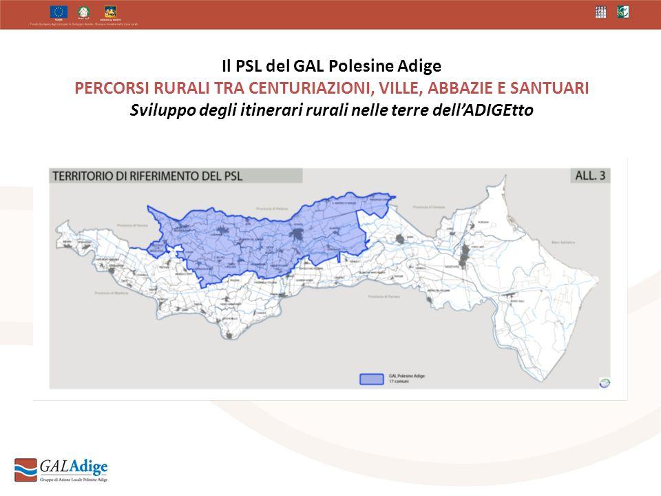 Il PSL del GAL Polesine Adige PERCORSI RURALI TRA CENTURIAZIONI, VILLE, ABBAZIE E SANTUARI Sviluppo degli itinerari rurali nelle terre dellADIGEtto