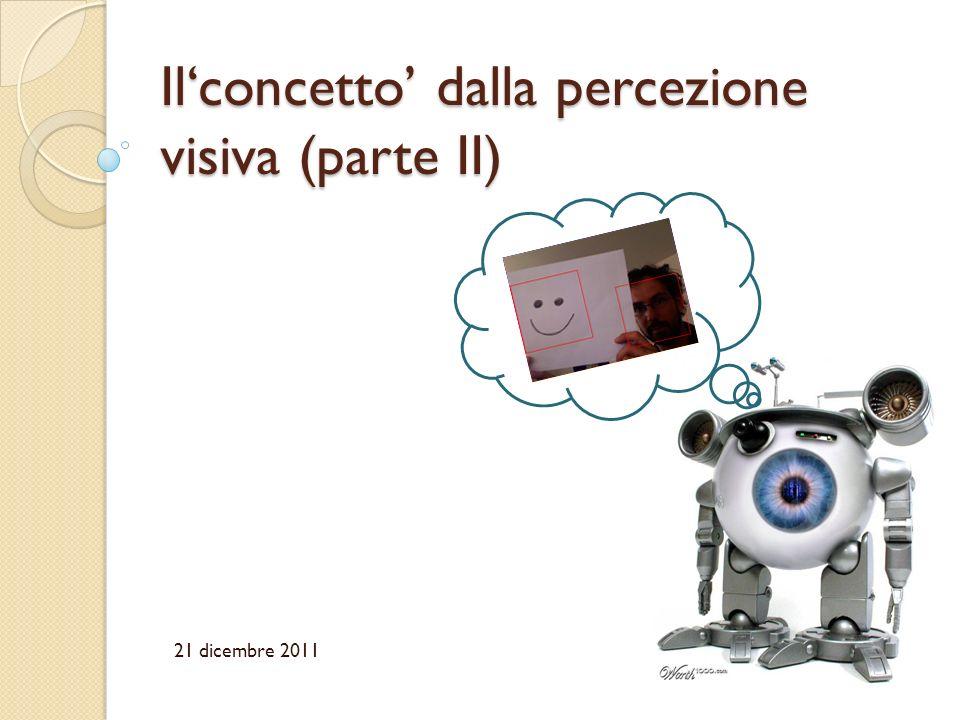 Ilconcetto dalla percezione visiva (parte II) 21 dicembre 2011