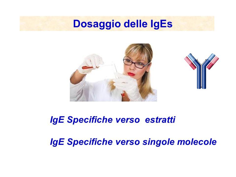 Dosaggio delle IgEs IgE Specifiche verso estratti IgE Specifiche verso singole molecole