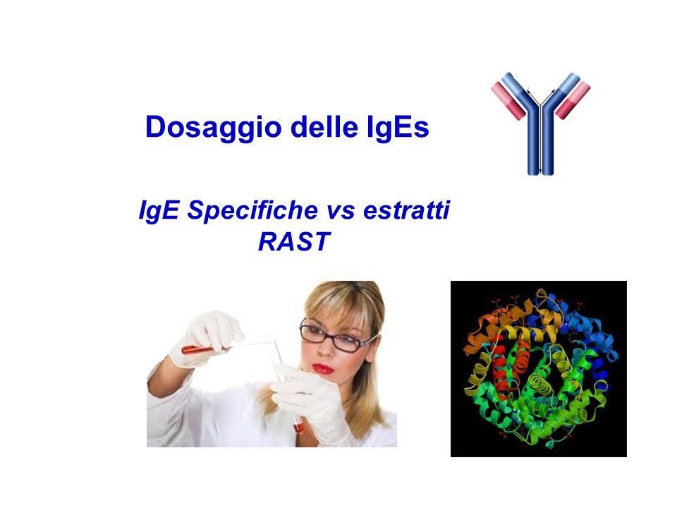 Dosaggio delle IgEs IgE Specifiche vs estratti RAST