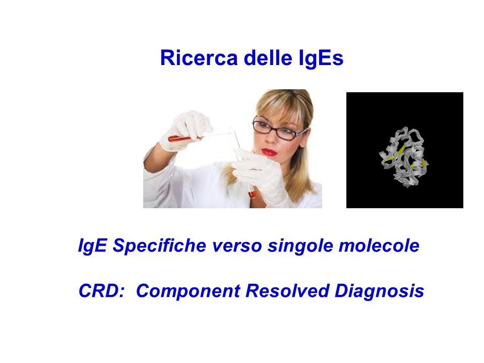 Ricerca delle IgEs IgE Specifiche verso singole molecole CRD: Component Resolved Diagnosis