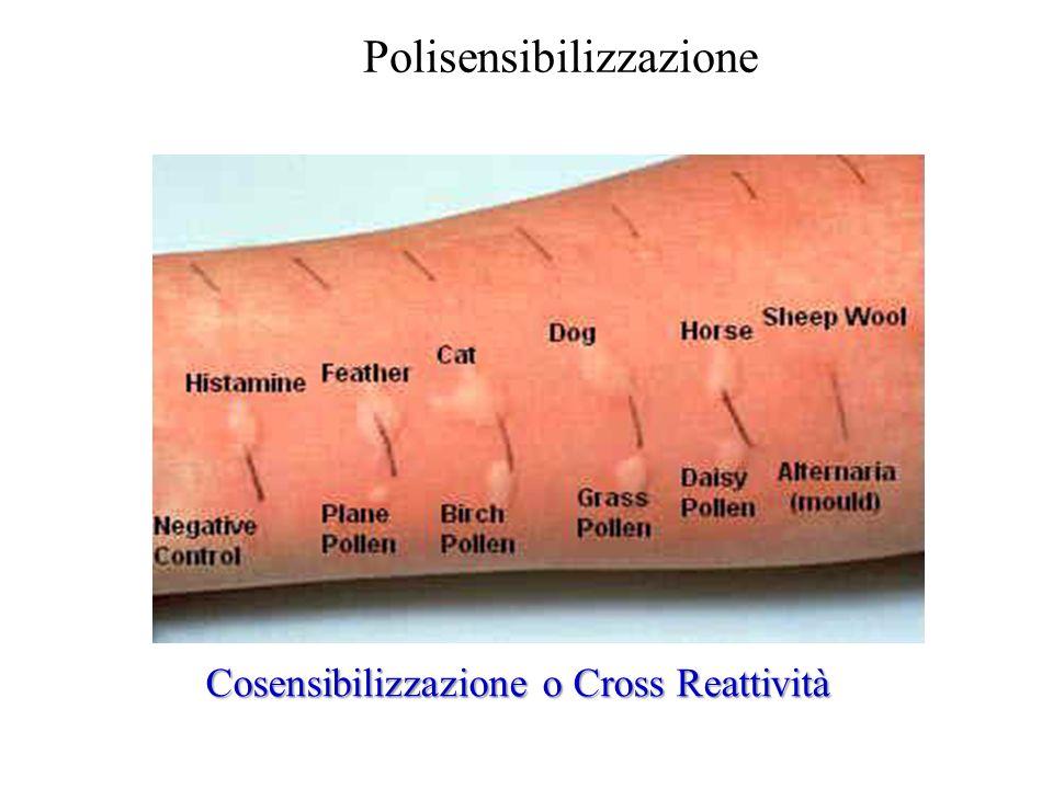 Cosensibilizzazione o Cross Reattività Polisensibilizzazione