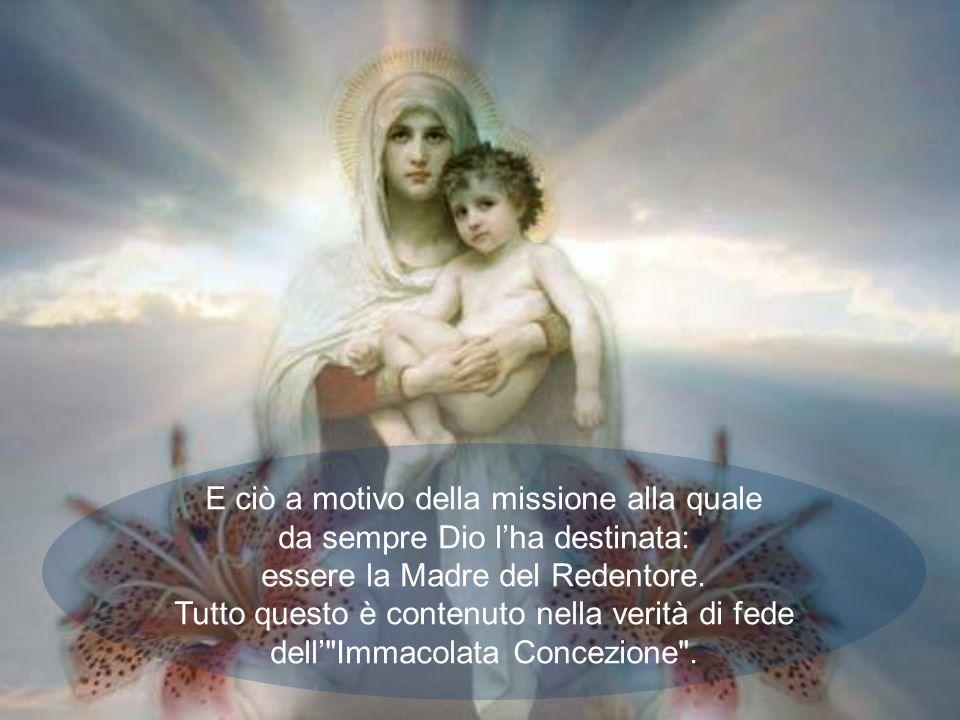 Questoggi celebriamo una delle feste della Beata Vergine più belle e popolari: lImmacolata Concezione. Maria non solo non ha commesso alcun peccato, m