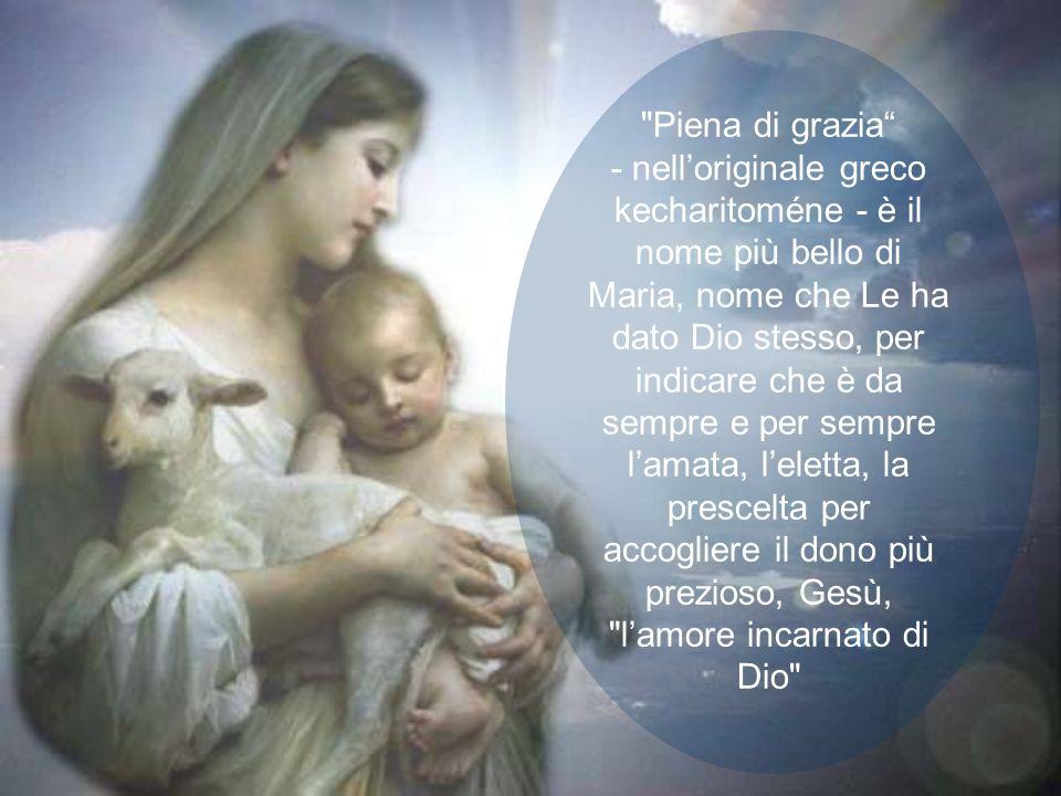 Il fondamento biblico di questo dogma si trova nelle parole che lAngelo rivolse alla fanciulla di Nazaret: