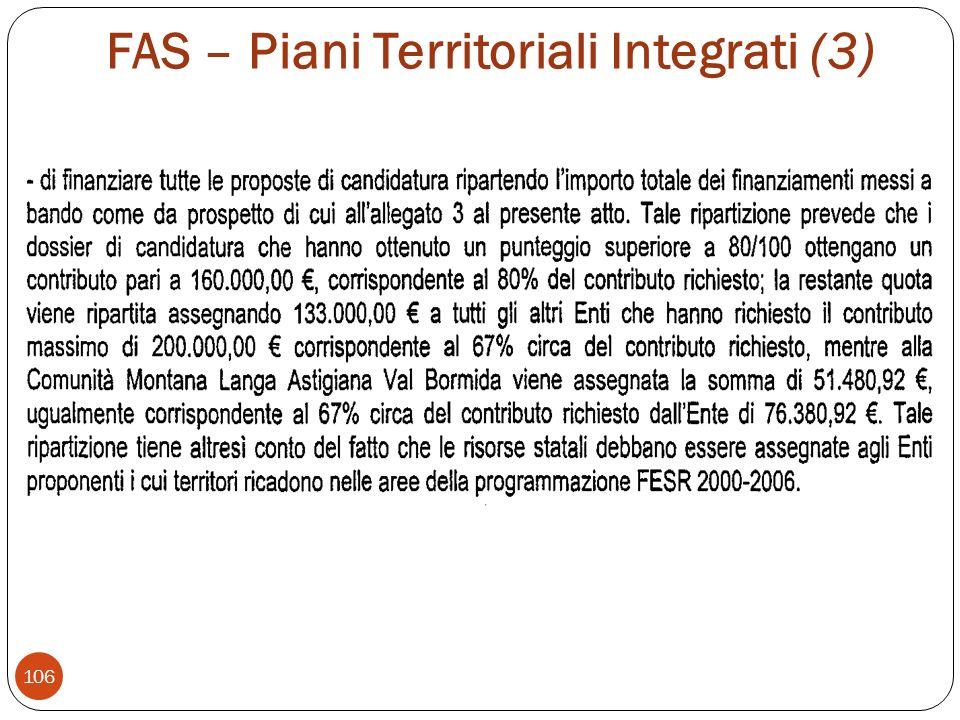 FAS – Piani Territoriali Integrati (3) 106
