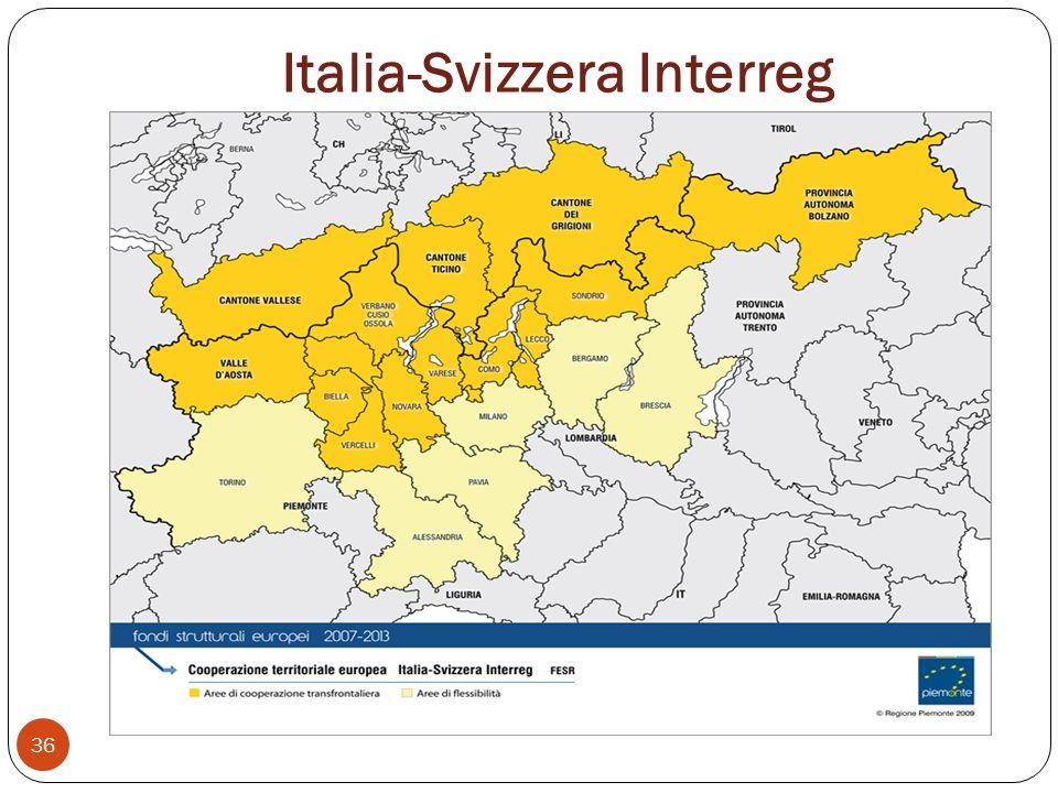 Italia-Svizzera Interreg 36