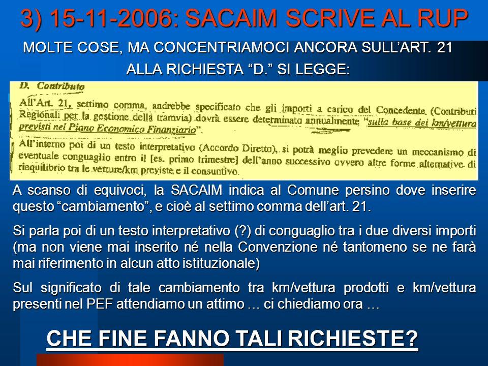 MOLTE COSE, MA CONCENTRIAMOCI ANCORA SULLART. 21 ALLA RICHIESTA D.
