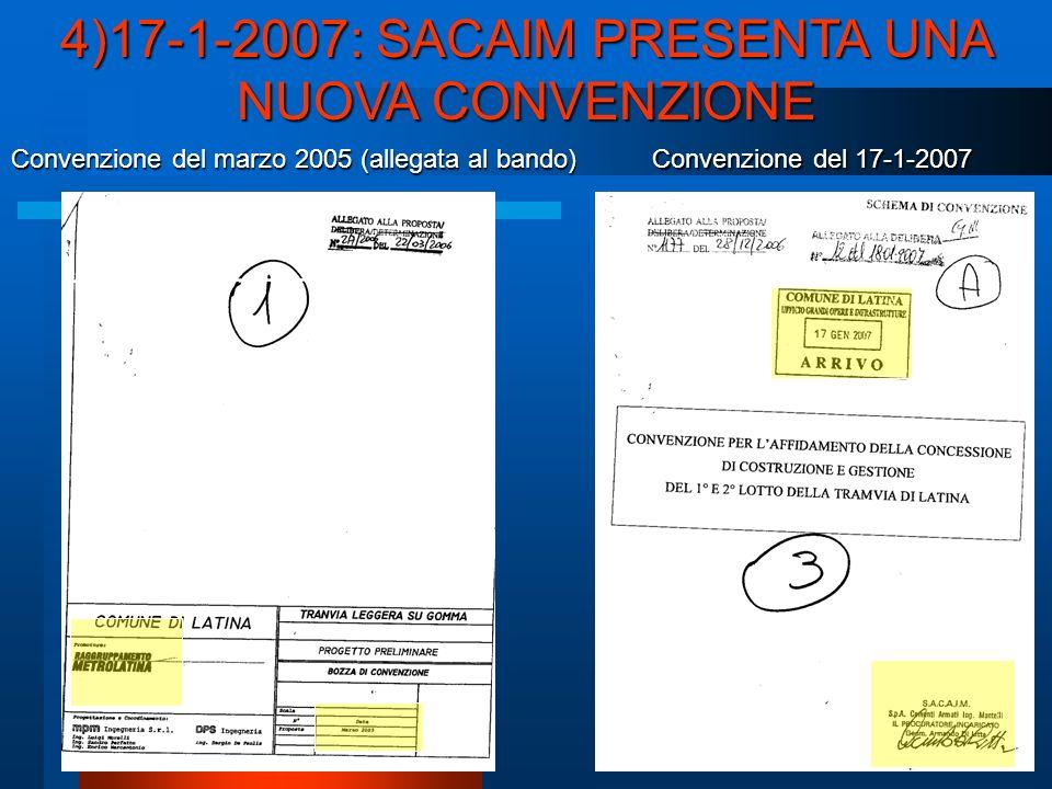 Convenzione del 17-1-2007 Convenzione del marzo 2005 (allegata al bando)