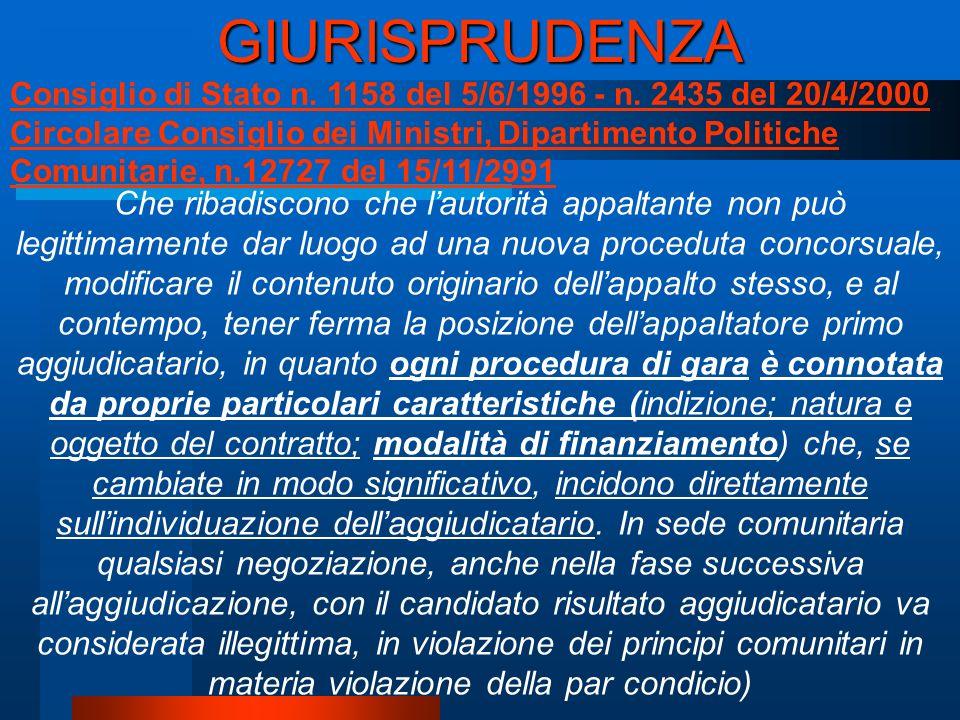Consiglio di Stato n. 1158 del 5/6/1996 - n.