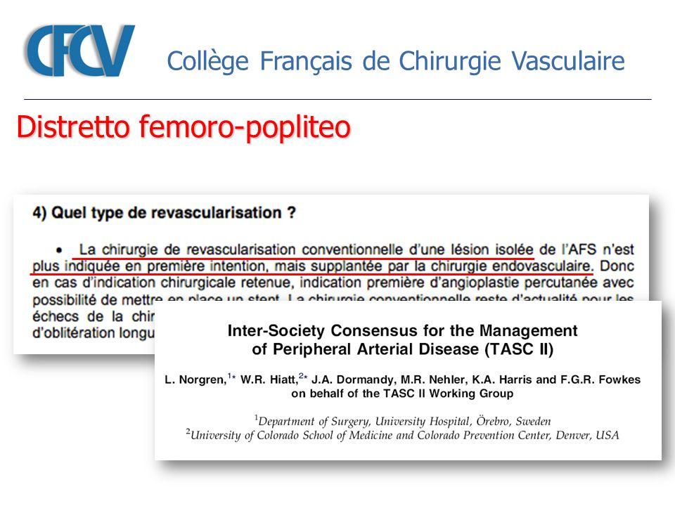 Collège Français de Chirurgie Vasculaire Distretto femoro-popliteo