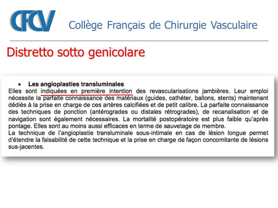 Collège Français de Chirurgie Vasculaire Distretto sotto genicolare