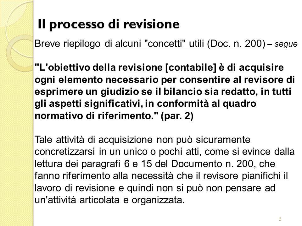 5 Il processo di revisione Breve riepilogo di alcuni