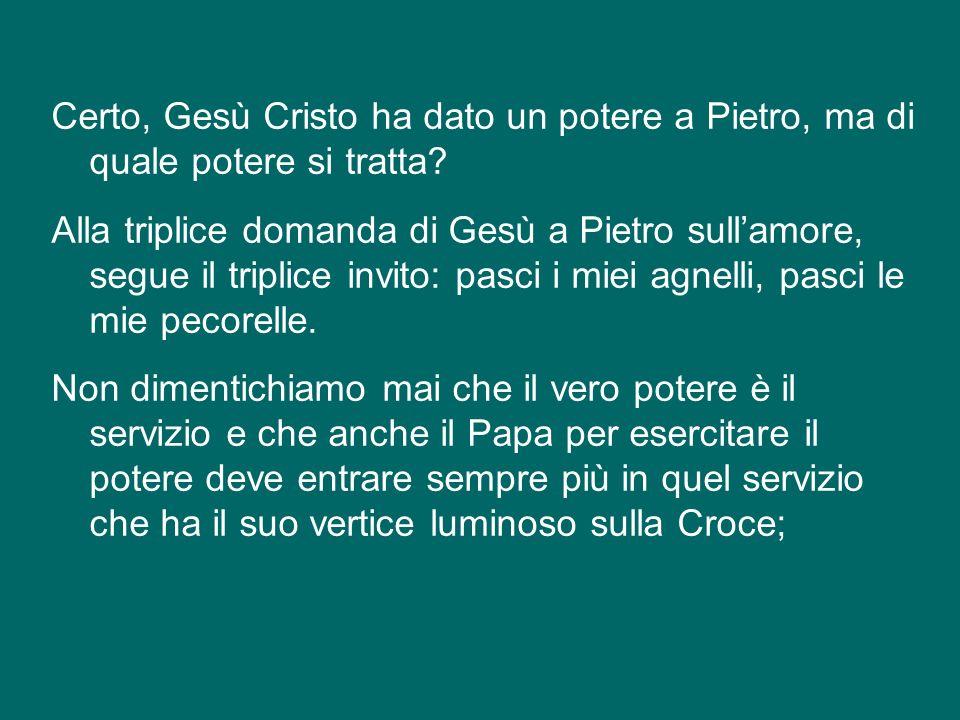 Oggi, insieme con la festa di san Giuseppe, celebriamo linizio del ministero del nuovo Vescovo di Roma, Successore di Pietro, che comporta anche un po