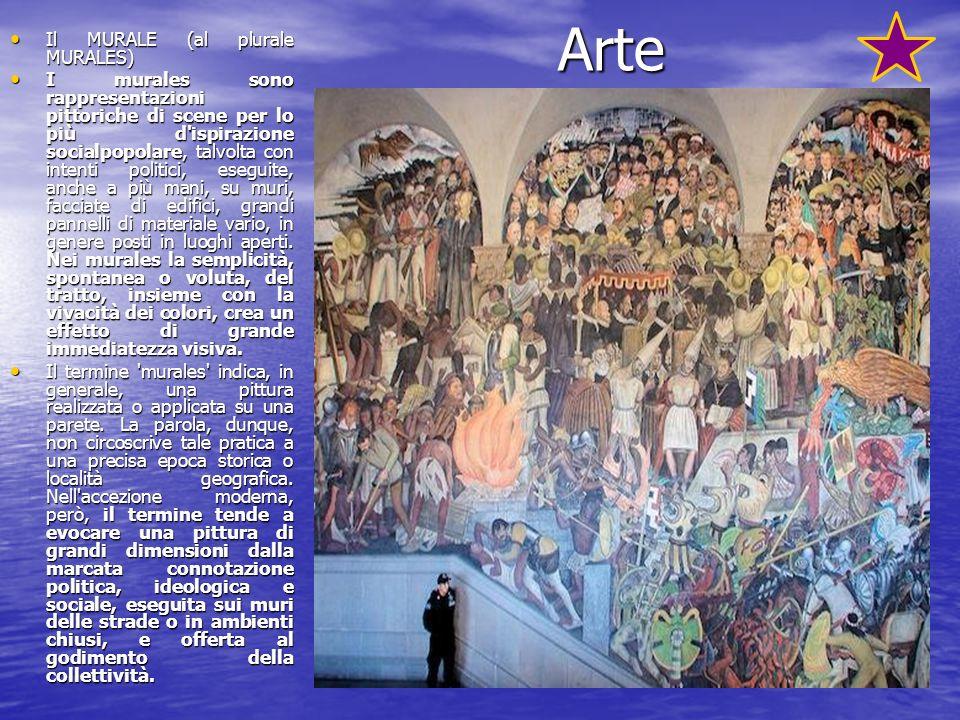 Arte Il MURALE (al plurale MURALES) Il MURALE (al plurale MURALES) I murales sono rappresentazioni pittoriche di scene per lo più d'ispirazione social