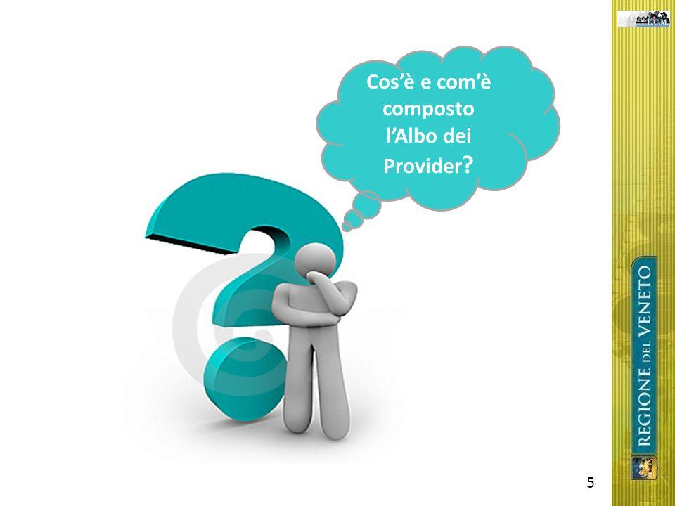 5 Cosè e comè composto lAlbo dei Provider ?