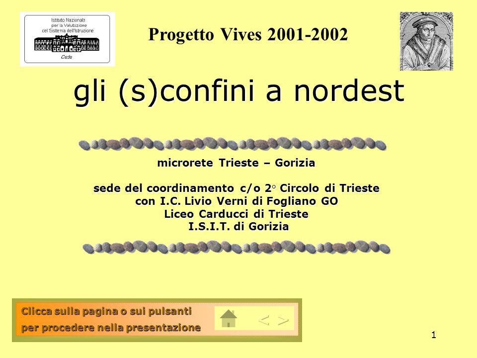 1 gli (s)confini a nordest microrete Trieste – Gorizia sede del coordinamento c/o 2° Circolo di Trieste con I.C. Livio Verni di Fogliano GO Liceo Card