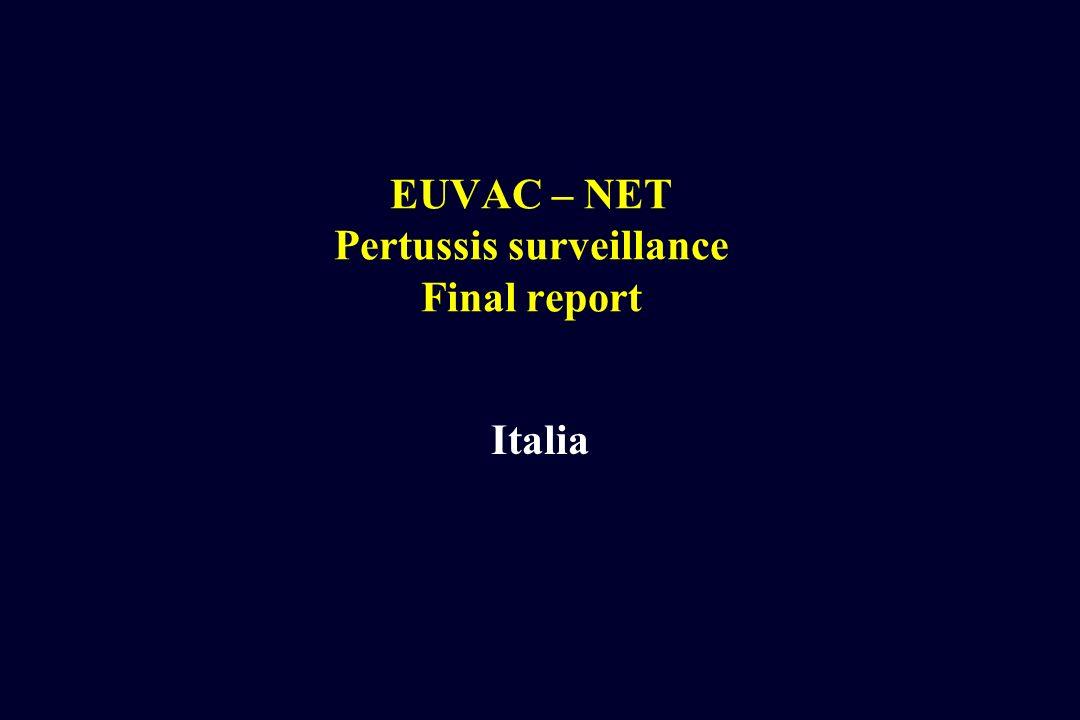 EUVAC – NET Pertussis surveillance Final report Italia