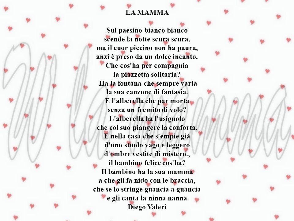 Supplica a mia madre E difficile dire con parole di figlio ciò a cui nel cuore ben poco assomiglio.