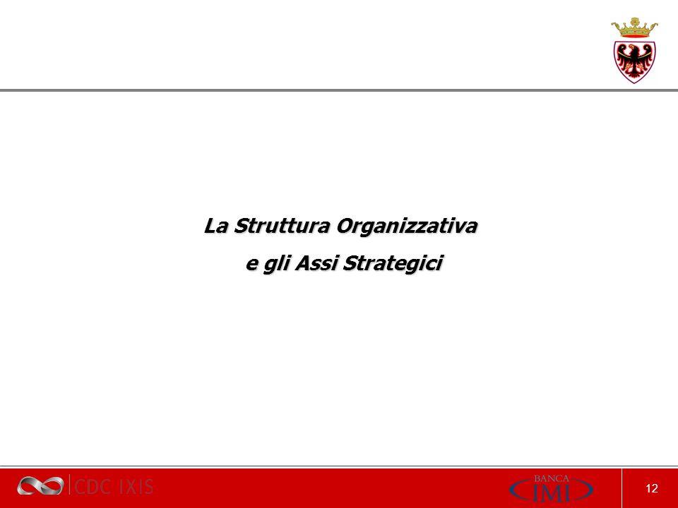 12 La Struttura Organizzativa e gli Assi Strategici e gli Assi Strategici