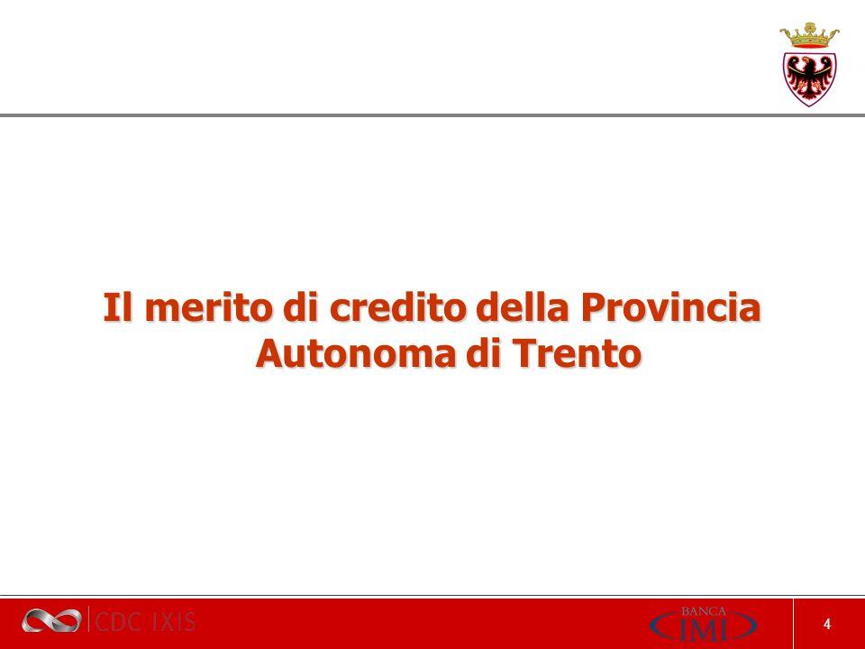 4 Il merito di credito della Provincia Autonoma di Trento