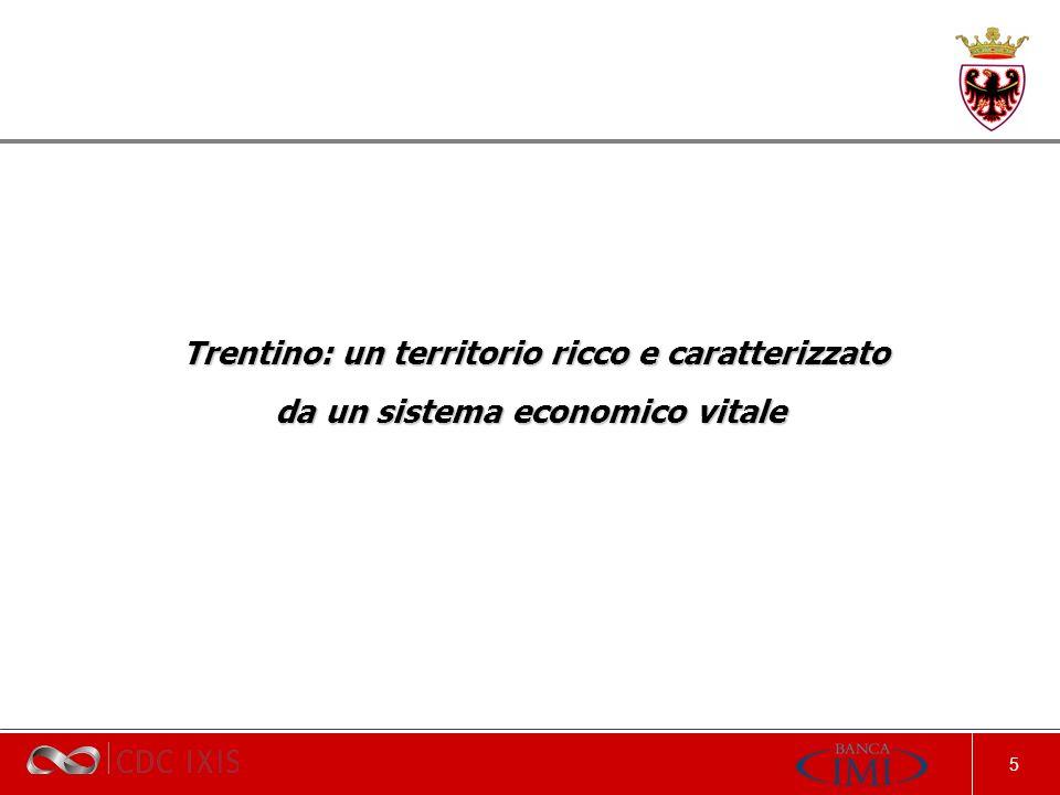 5 Trentino: un territorio ricco e caratterizzato Trentino: un territorio ricco e caratterizzato da un sistema economico vitale