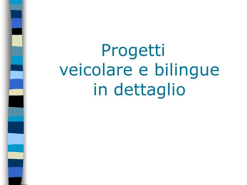 Progetti veicolare e bilingue in dettaglio