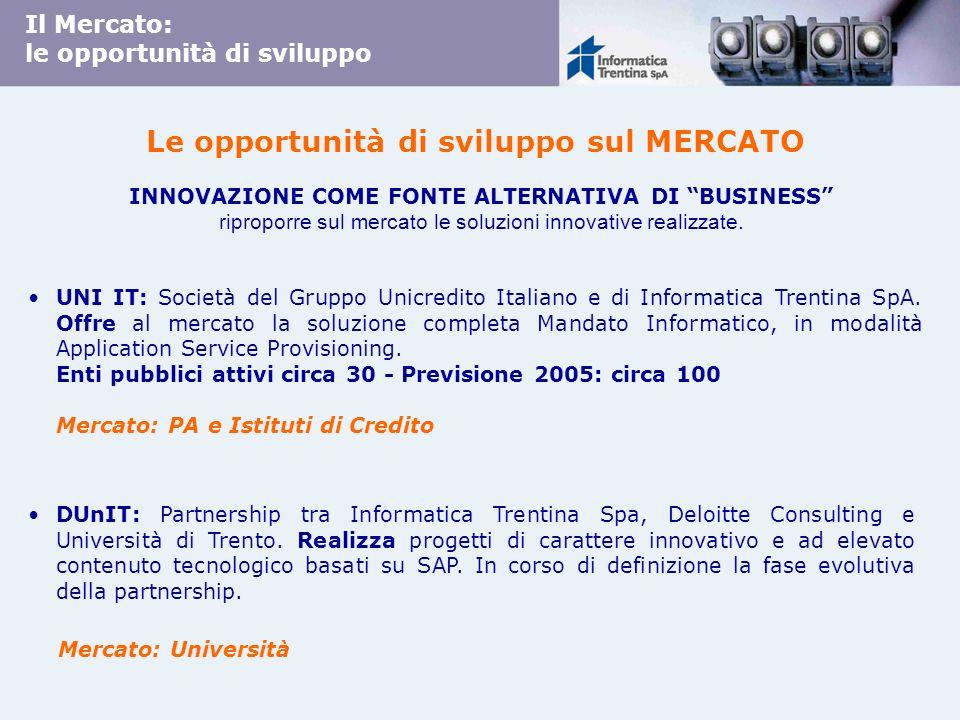 UNI IT: Società del Gruppo Unicredito Italiano e di Informatica Trentina SpA. Offre al mercato la soluzione completa Mandato Informatico, in modalità