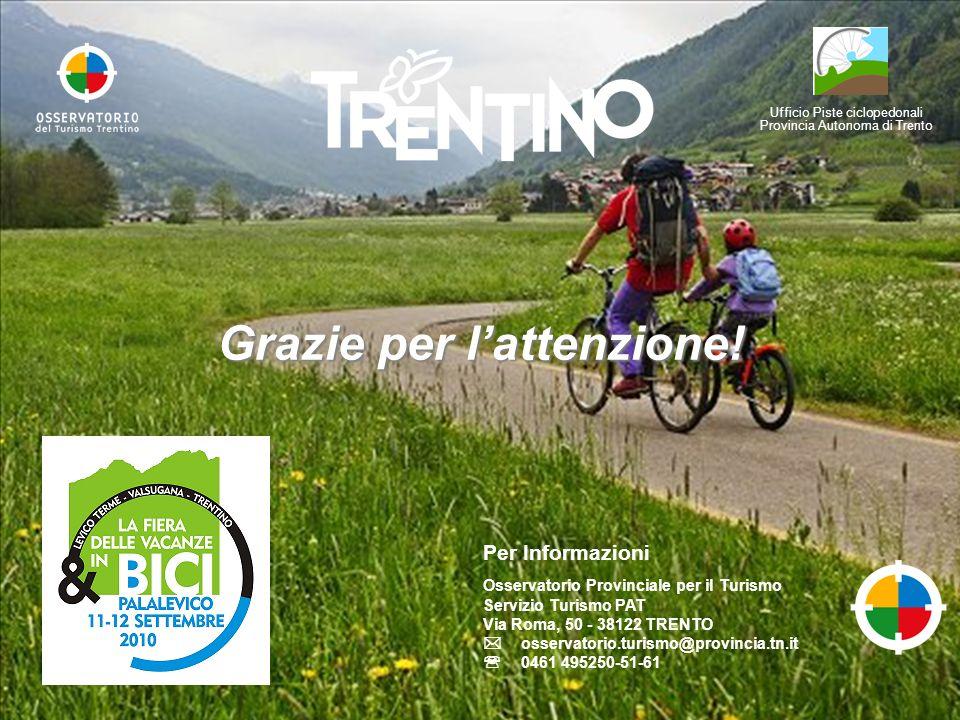 Ufficio Piste ciclopedonali Provincia Autonoma di Trento Grazie per lattenzione.