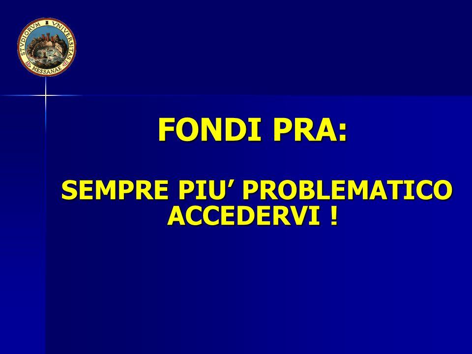FONDI PRA: SEMPRE PIU PROBLEMATICO ACCEDERVI !